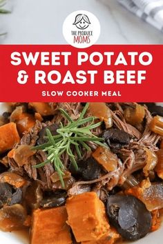Create this easy, healthy and delicious dinner today. This rich meaty and juicy meal is perfect for the crockpot and take little effort to make an incredible meal! Grab this recipe and make a hearty meal the whole family will love! Slow Cooker Roast Beef, Slow Cooker Recipes, Delicious Dinner Recipes, Healthy Recipes, Eat Healthy, Free Recipes, Good Sweet Potato Recipe, Healthy Pumpkin, Vegetable Recipes