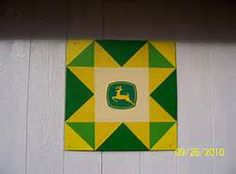 John Deere Barn Quilt  Visit & Like our Facebook page! https://www.facebook.com/pages/Rustic-Farmhouse-Decor/636679889706127