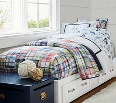 Pottery Barn Kids Madras Quilted Bedding Annie Sloan