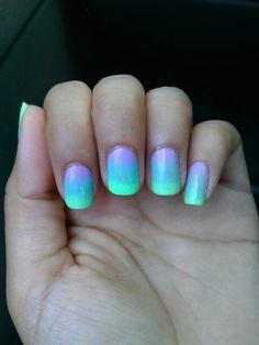 Summer nails pretty colors