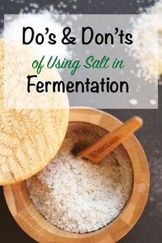 Should you use table salt in you ferments? Salt can either make your fermented foods more nutrient rich or it can inhibit fermentation. Sauerkraut, Kefir, Kombucha, Fermentation Recipes, Canning Recipes, Fermenting Jars, Raw Food Recipes, Probiotic Foods, Fermented Foods