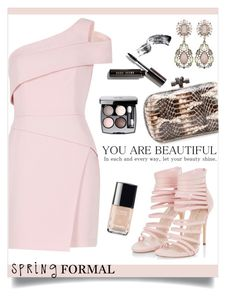 """""""Spring formal"""" by anchilly23 ❤ liked on Polyvore featuring BCBGMAXAZRIA, Bottega Veneta, Bobbi Brown Cosmetics and Chanel"""
