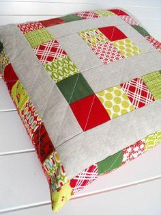 patchwork cushion pillow