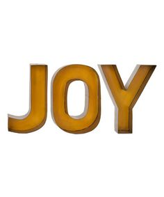 Another great find on #zulily! Yellow 'Joy' Wall Décor #zulilyfinds
