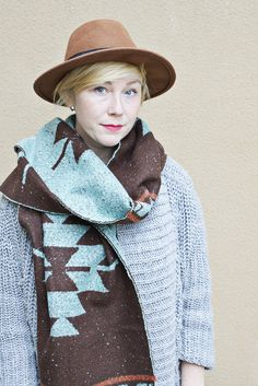 'Tis the season for oversized scarves, and we're loving this one!