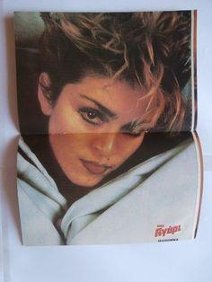 Madonna Morten Harket Mini Poster Greek Magazines clippings 80s 90s | eBay
