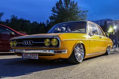 #Audi #100 #vintage #yellow #classic #cars #tradition