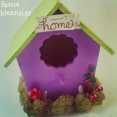 Home I just listed 3 adorable and whimsical faerie houses in my shop (link in bio).  Each house comes with 2 coordinating faeries.  These houses are a great way to welcome faerie magic into your home.  Many blessings, thanks for looking! #faerieblessings #faerie #fairy #pixie #fairyhouse #faeriehouse #home #etsy  Check out this item in my Etsy shop https://www.etsy.com/listing/221264165/cute-purple-faerie-fairy-house-with