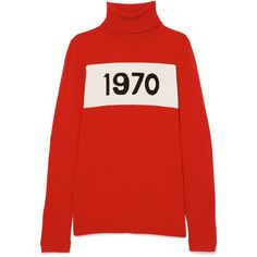 Bella Freud 1970 wool turtleneck sweater (1.425 RON) ❤ liked on Polyvore featuring tops, sweaters, red, red turtleneck, turtle neck sweater, wool turtleneck, wool turtleneck sweater and punk sweater