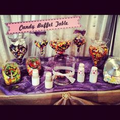 Candy Buffet Table with Dixie Cups