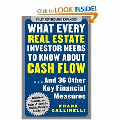 What Every Real Estate Investor Needs to Know About Cash Flow... And 36 Other Key Financial Measures [Paperback] $14.99
