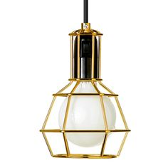 Work lamp, gold, Design House Stockholm
