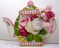 The Shabby Tea Room: Week #181 - 'Tea Party Picnic' teapot shaped card