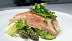 Foil-Baked Norwegian Salmon with Roasted Asparagus - SalmonfromNorway.com