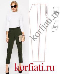 Выкройка классических женских брюк от А. Корфиати
