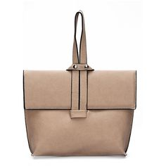 Yoins Apricot Leather-look Dual-use Tote Bag ($39) ❤ liked on Polyvore featuring bags, handbags, tote bags, vegan tote bags, tote bag purse, tote purses, beige purse and handbags totes