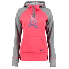 Los Angeles Angels of Anaheim Nike Women's All Time Performance 1.5 Pullover Hoodie - Red - $55.99