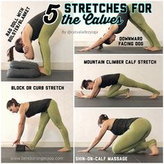 Calf stretches by request! And I havent covered calf stretches on here yet. Theyre kinda neglected in yoga asana! Few traditional poses Fitness Workouts, Yoga Fitness, Fitness Tips, Arm Workouts, Yoga Poses For Back, Yoga For Back Pain, Bikram Yoga, Ashtanga Yoga, Yin Yoga
