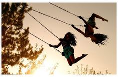 somebody was there when my bff sister and I were at our favorite place to swing! what fun we have...