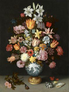 Este bodegón de flores guarda una de las anécdotas más bellas de mi primer viaje a Londres. Se exhibe en The National Gallery
