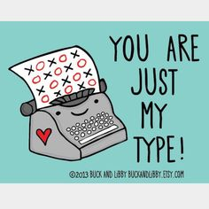 Valentines Pun – You Are Just My Type – Nail Art   Polished Inka