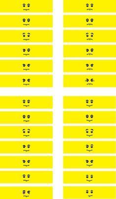 MiniFigure Head decals (130 facial expressions)