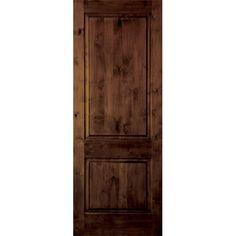 krosswood doors 18 in x 80 in rustic knotty alder 2 panel square top