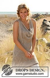 """Ravelry: 129-2 Tunic with extra width in front in """"Lin"""" or """"Muskat"""" pattern by DROPS design"""