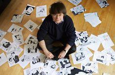 """Vier der bekanntesten Cartoonisten Frankreichs kamen bei dem Anschlag auf """"Charlie Hebdo"""" ums Leben: Cabu, Tignous, Charb und Wolinski. """"Ich würde lieber stehend sterben, als auf den Knien zu leben."""""""