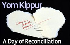 Yom Kippur: A Day of Reconciliation -- nice idea for a Yom Kippur activity