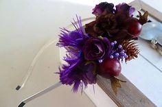 S fialovým pierkom / Martinuska - SAShE. Handmade Headbands, Plants, Plant, Planets