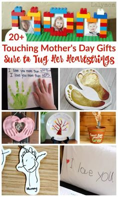 Touching Mother's Day Gifts - Bring a tear to Mom's eye with these Touching Mother's Day Gift Ideas. mothers day gifts kids, mothers day diy gifts from daughter, mom gifts diy Best Gifts For Grandparents, Best Gifts For Mom, Unique Mothers Day Gifts, Mothers Day Crafts For Kids, Grandparent Gifts, Mother Gifts, Gifts For Kids, Mom Gifts, Diy Mother's Day Crafts
