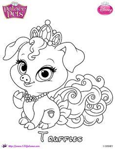 Truffles Princess Palace Pet Coloring Page by SKGaleana