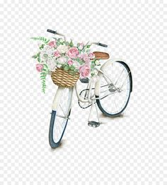 T-shirt Daily Light On The Daily Path Napkin Bicycle Throw Pillow PNG - bicycle accessory, bicycle basket, bicycle part, canvas, cushion Vintage Flowers, Pink Flowers, Icon Png, Diy Love, Bicycle Basket, Bicycle Wheel, Clip Art, Decoupage Vintage, Arte Floral