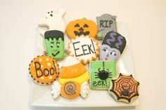 Halloween cookies by The Pink Mixing Bowl!