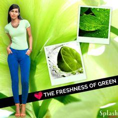 Basic green shade as cool as it looks!  #Splash #Fashion #Bascis #Casuals #SpringSummer #SplashIndia