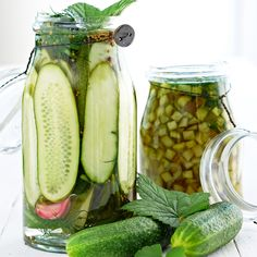 Kurkkusäilyke x 5 - Kotiliesi. Hot Dog, Preserves, Pickles, Cucumber, Harvest, Homemade, Vegan, Koti, Home Made