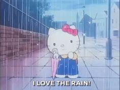 Water / Agua / Wasser / 水 / Vesi Sanrio Hello Kitty, Hello Kitty Cartoon, Sanrio Characters, Cute Characters, Cartoon Gifs, Cute Cartoon, Looney Toons, Rain Gif, 4 Wallpaper