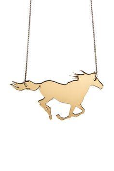 Running Horse Necklace,Plexiglass Jewelry,Lasercut Acrylic,Gifts Under 25