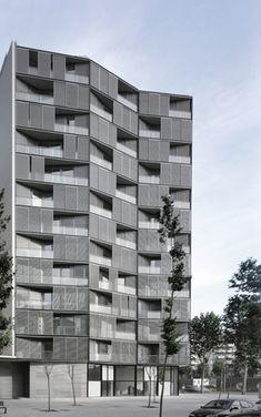 Barcelona, Spain  Edificio de 68 viviendas, locales comerciales y aparcamientos  OAB – FERRATER & ASOCIADOS