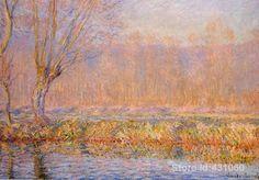 Abstracte olieverf voor wasruimte De Wilg handgeschilderde op linnen Claude Monet schilderij(China (Mainland))