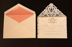 Lace envelope for wedding announcements that you can make.