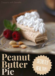 Ultra Rich & Decadent Peanut Butter Pie with a secret or two... okay, okay, it's sugar free, low carb, high protein and gluten free! But you'd never know it ;)
