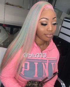 Online Shop Ombre hair color sew in human hair bundles and closure and frontal for brunettes colored hair for black off promotion factory cheap price,DHL worldwide shipping, store coupon available. Black Girls Hairstyles, Pretty Hairstyles, Love Hair, Gorgeous Hair, Hair Colorful, Multicolored Hair, Color Del Pelo, Human Hair Color, Look Girl
