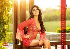 Shreya Saran hot in red dress