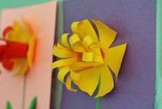 Spring is coming! Whether your yard is already blooming (like ours here in California), or you're still waiting for the snow to melt, it's definitely time to brighten up the indoors with some springtime crafts. Yay! Our first official crafts of the season are these pretty paper daffodils, with frilly 3-D centers. These are such …