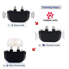 HotSpot Pets Wireless Rechargeable Dog Training Collar W/ 100 Level Tone, Vibration & Shock - Walmart.com - Walmart.com Training Collar, Dog Training, Remote Vibrator, Static Shock, Dog Shock Collar, Dog Yard, Electric Shock, Learning Process, Low Lights