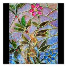 Poster-Vintage Stained Glass Art-9