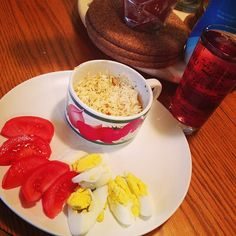 Yummy dinner <3 #naturalcalm #cranberry #eggs #tomato #rice #delicious