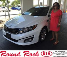 https://flic.kr/p/K19ifs | Happy Anniversary to Deneen on your #Kia #Optima from Bobby Nestler at Round Rock Kia! | deliverymaxx.com/DealerReviews.aspx?DealerCode=K449
